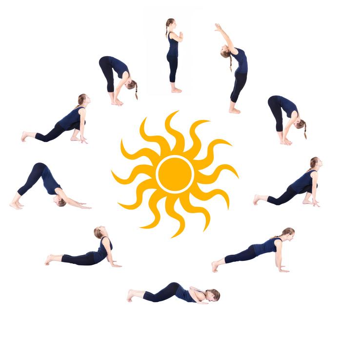 surya namaskar yoga nice